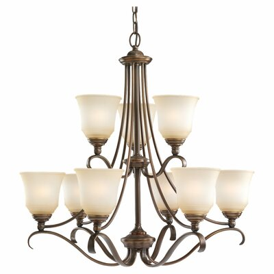Hostetter 9-Light Shaded Chandelier