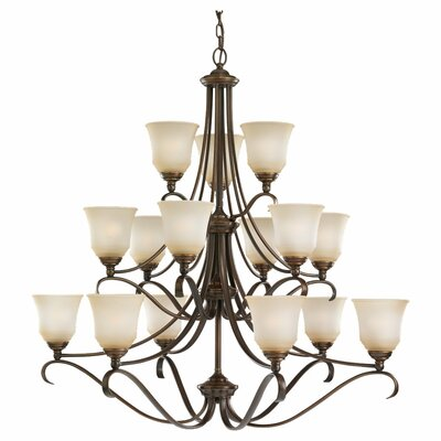 Hostetter 15-Light Shaded Chandelier