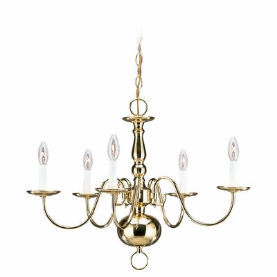 Hendersonville Traditional 5-Light Candle-Style Chandelier