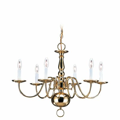 Hodgins Traditional 6-Light Candle-Style Chandelier