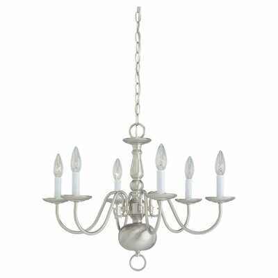 Spencerville 6-Light Candle-Style Chandelier
