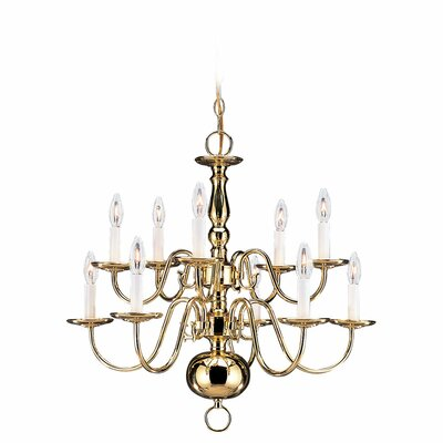 Johnsonburg Traditional 10-Light Candle-Style Chandelier