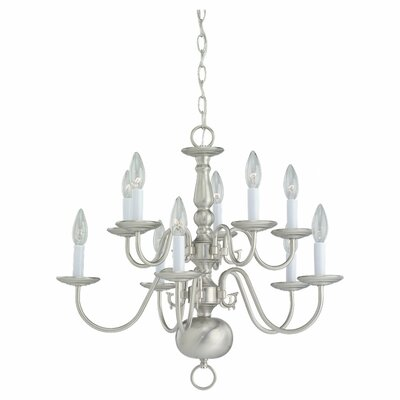 Spencerville 10-Light Candle-Style Chandelier