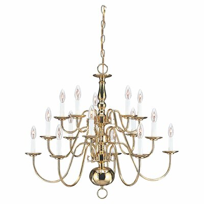 Traditional 15-Light Candle-Style Chandelier