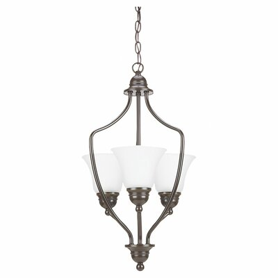 Hydetown 3-Light Foyer Pendant Finish: Heirloom Bronze, Bulb type: 100W Medium