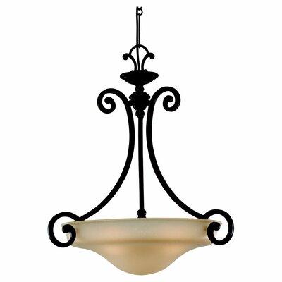 Acadia 3-Light Inverted Pendant Bulb Type: Fluorescent GU24 13W