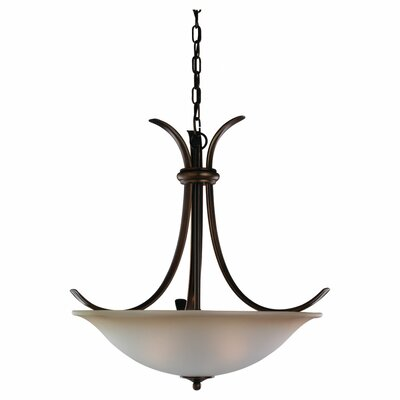 Hornellsville 3-Light Inverted Pendant Finish: Russet Bronze