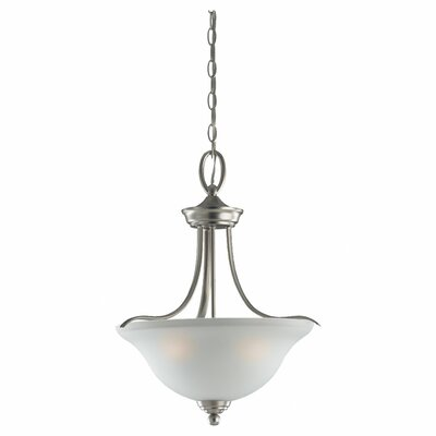 Wheaton 3 Light Inverted Pendant Finish: Brushed Nickel