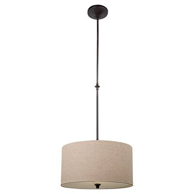 Stirling 1 Light Drum Pendant Finish: Burnt Sienna