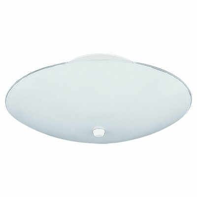 Simonetta 4.75 2-Lights 60W Flush Mount Size: 5.75 H x 14.75 Diameter
