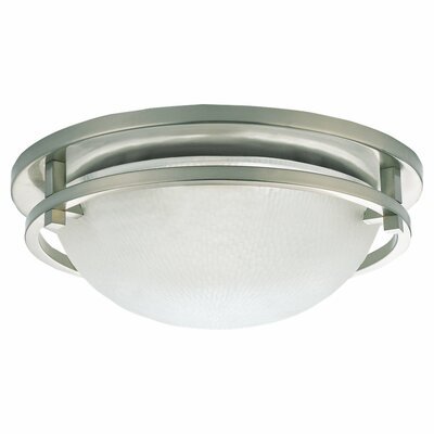 2-Light 60W Flush Mount Size: 5 H x 14 Diameter