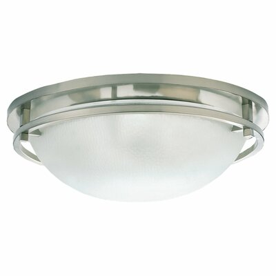 Gobin 2-Light 60W Flush Mount Size: 5.75 H x 18 Diameter