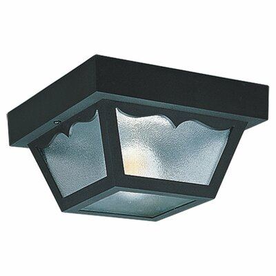 Avennes 1-Light Flush Mount Finish: Black, Size: 10.25 H x 10.25 W x 5.5
