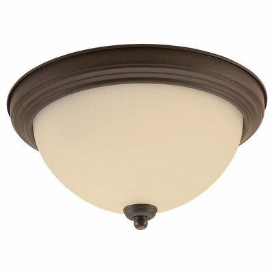 Herscher 3-Light Flush Mount Finish: Misted Bronze