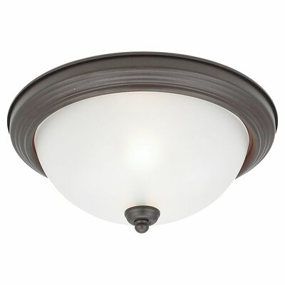 1-Light Flush Mount Finish: Misted Bronze