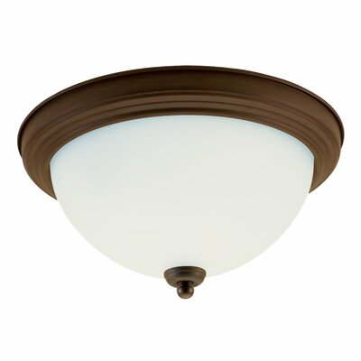 Hornellsville 5.5 2-Light Flush Mount Finish: Russet Bronze