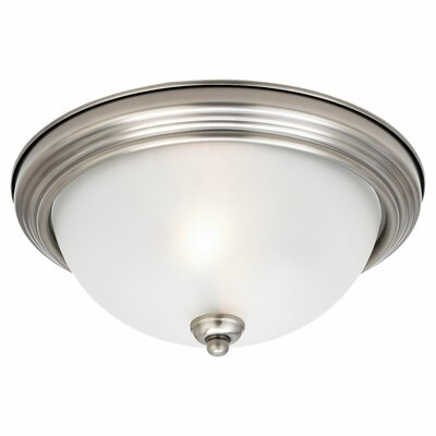 Herscher 3-Light Flush Mount Finish: Antique Brushed Nickel
