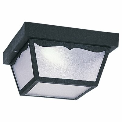 Hesser 2-Light Flush Mount Finish: Black