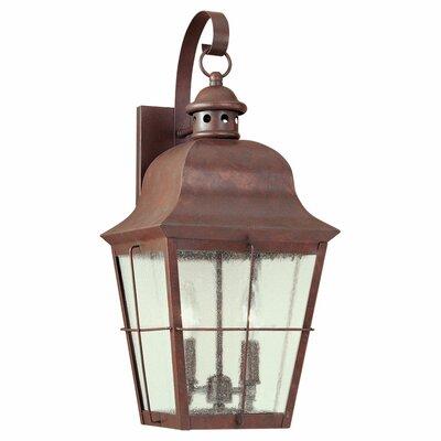 Fullerton 2-Light Outdoor Wall Lantern Finish: Weathered Copper