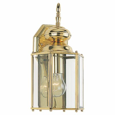 Classic 1-Light Outdoor Wall Lantern Finish: Polished Brass