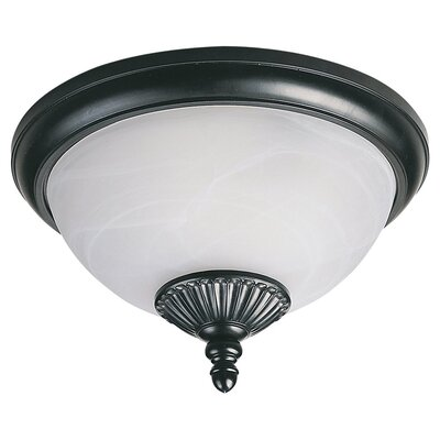 Nicollet 2-Light Flush Mount Bulb Type: 13W GU24 Fluorescent