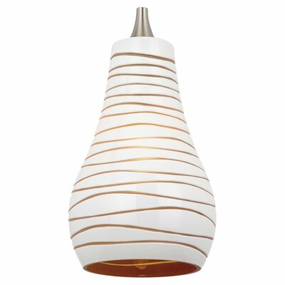 Ambiance Bianca 5.38 Glass Drum Pendant Shade