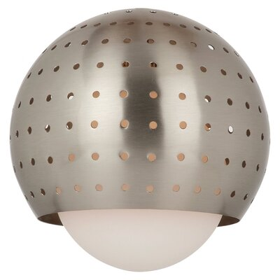 5.88 Glass Sphere Pendant Shade Finish: Brushed Nickel
