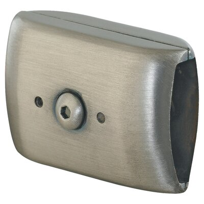 Ambiance Rail Connector in Antique Brushed Nickel Finish: Antique Brushed Nickel