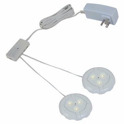 Ambiance LED Under Cabinet Puck Light Kit Finish: White