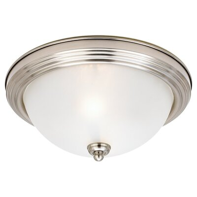 Herscher 3-Light Flush Mount Finish: Brushed Nickel