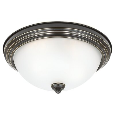 Herscher 3-Light Flush Mount Finish: Heirloom Bronze