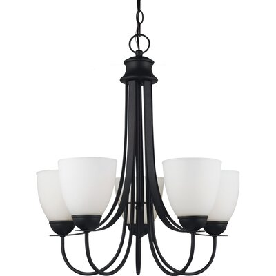 Uptown 5-Light Shaded Chandelier Bulb Type: 75 W A-19 Medium