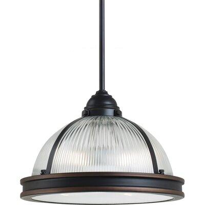 Pratt Street Prismatic 2 Light Pendant Bulb Type: 75 W A-19 Medium, Finish: Autumn Bronze