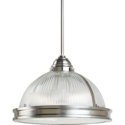 Pratt Street Prismatic 2 Light Pendant Finish: Brushed Nickel, Bulb Type: 75 W A-19 Medium