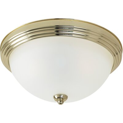 Albany 3-Light Flush Mount Finish: Polished Brass