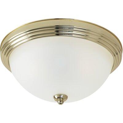 1-Light Ceiling Flush Mount Finish: Polished Brass, Size: 5.5 H x 10.5 W x 10.5 D