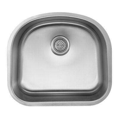 18 Gauge Stainless Steel 23.25 x 20.88 Undermount Kitchen Sink