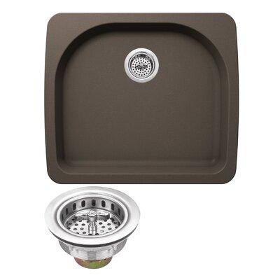 Quartz 25 x 22 Undermount Kitchen Sink with Twist and Lock Strainer Finish: Mocha Brown