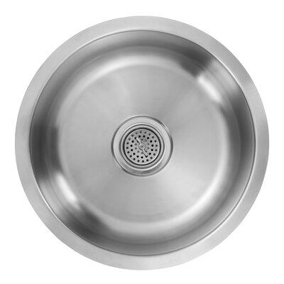 18 Gauge Stainless Steel 17.13 x 17.13 Undermount Bar Sink