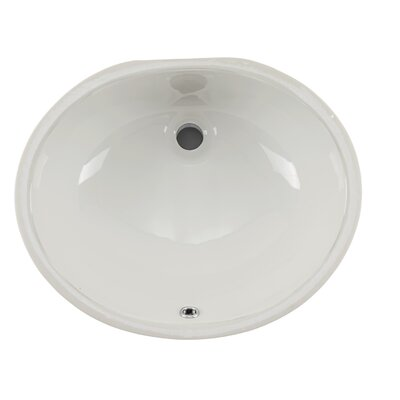 Glazed Porcelain Oval Undermount Bathroom Sink with Overflow Sink Finish: Biscuit