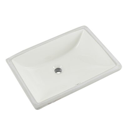 Glazed Porcelain Rectangular Undermount Bathroom Sink with Overflow Sink Finish: Biscuit