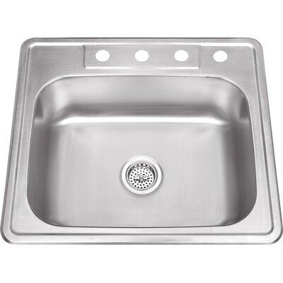 20 Gauge Stainless Steel 25 x 22 Undermount Kitchen Sink