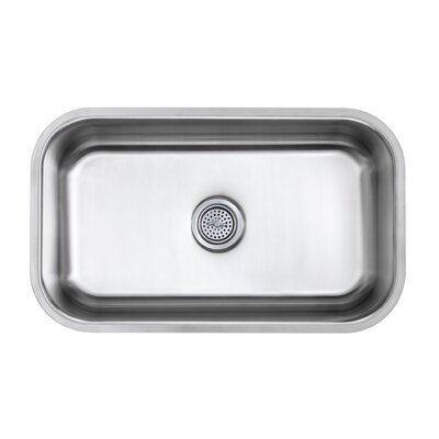 18 Gauge Stainless Steel 30 x 18 Undermount Kitchen Sink