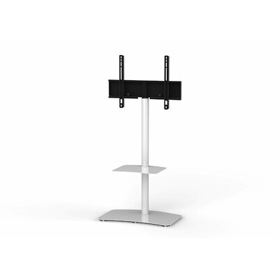 Modern Swivel Floor Stand Mount for Greater Than 50 LED Finish: White