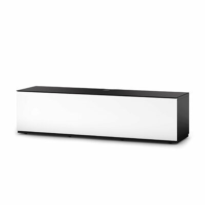 Auld Studio 65 TV Stand Color: White/Black