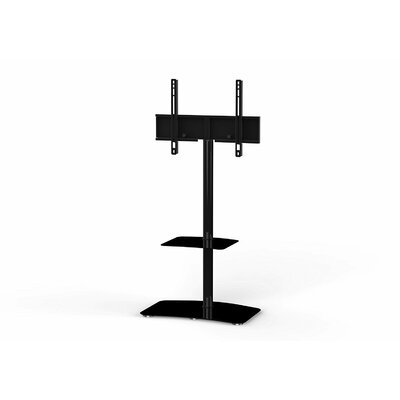 Modern Swivel Floor Stand Mount for Greater Than 50 LED Finish: Black
