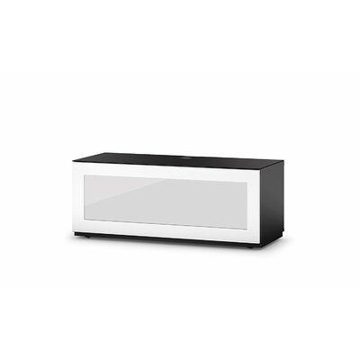 Dimitri Studio 43.34 TV Stand Color: White/Black