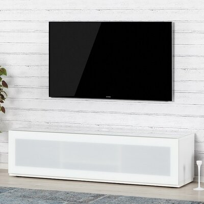 Dillen Studio 65 TV Stand Color: White/White