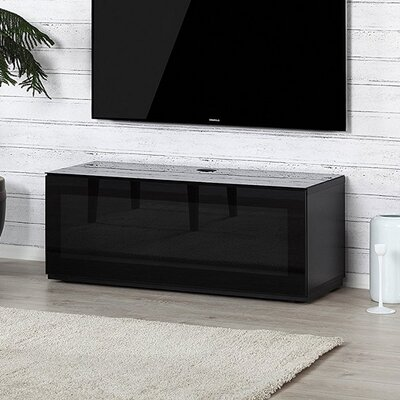 Dimitri Studio 43.34 TV Stand Color: Black/Black