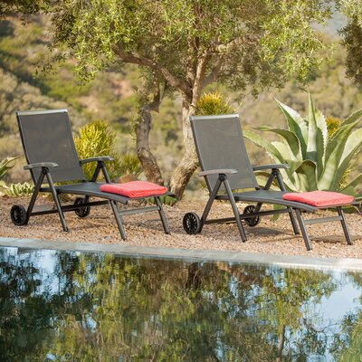 Denney Pool Patio Adjustable Chaise Lounge